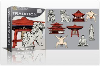 Tradition Vector Pack 1 Japanese Art [tag]