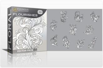Floral vector pack 88 – Flourishes Floral floral