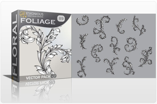 Floral Vector Pack 89 – Foliages Floral floral