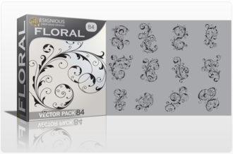 Floral Vector Pack 84 – Floral Swirls Floral floral