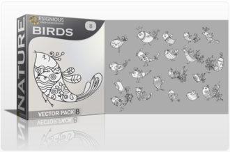Birds Vector Pack 8 Nature bird
