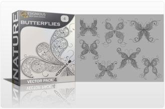 Butterflies Vector Pack 4 Nature butterfly