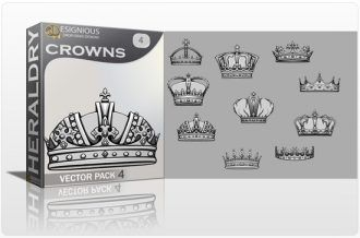 Crowns Vector Pack 4 Heraldry crown