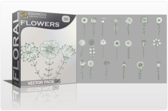 Floral Vector Pack 96 – Decorative Floral floral