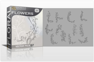 Floral Vector Pack 97 – Flourishes Floral floral