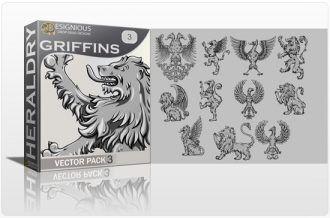 Griffins Vector Pack 3 Heraldry griffin