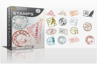 Stamps Vector Pack 2 Stamps and stickers [tag]