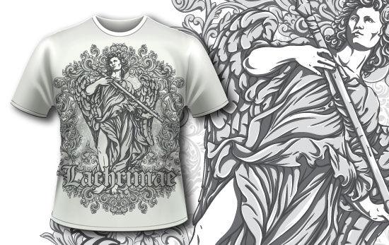 T-shirt design 342 – Archangel T-shirt Designs and Templates vector
