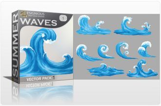 Waves Vector Pack 1 Summer [tag]