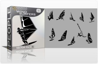Wind Surfers Vector Pack 1 People [tag]