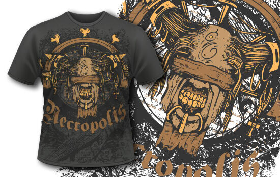T-shirt design 378 – Necromancer T-shirt Designs and Templates vector
