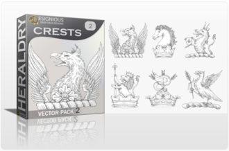 Crests Vector Pack 2 Heraldry crest