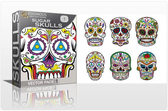 Sugar Skulls Vector Pack 1 Skulls halloween