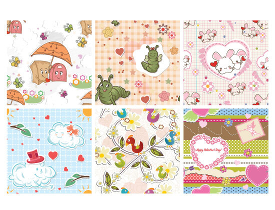 Seamless Patterns Vector Pack 77 Vector Patterns [tag]