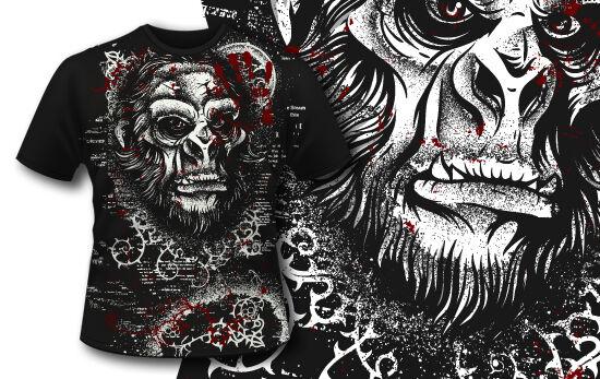 T-shirt Design 404 – Sasquatch T-shirt Designs and Templates vector