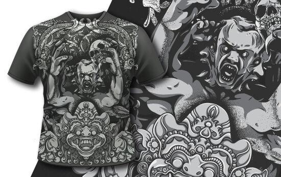 T-shirt Design 416 T-shirt Designs and Templates vector