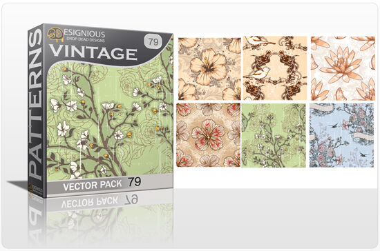 Seamless Patterns Vector Pack 79 Vector Patterns [tag]
