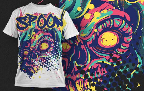 T-shirt Design 438 T-shirt Designs and Templates urban