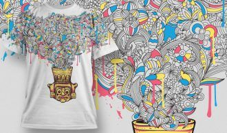 T-shirt Design 452 T-shirt Designs and Templates vector