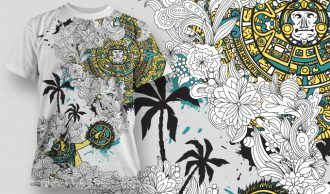 T-shirt Design 454 T-shirt Designs and Templates vector