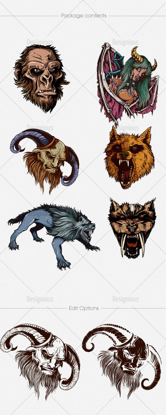 Mythical Creatures Vector Pack 1 Religion [tag]