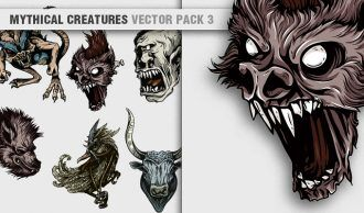 Mythical Creatures Vector Pack 3 Religion [tag]