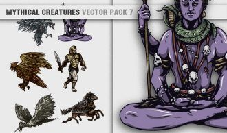 Mythical Creatures Vector Pack 7 Religion [tag]