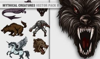 Mythical Creatures Vector Pack 8 Religion [tag]