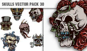 Skulls Vector Pack 30 Skulls [tag]