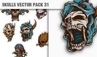Skulls Vector Pack 31 Skulls [tag]
