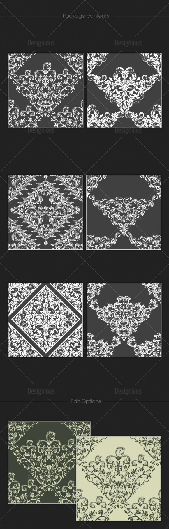Seamless Patterns Vector Pack 104 Vector Patterns [tag]