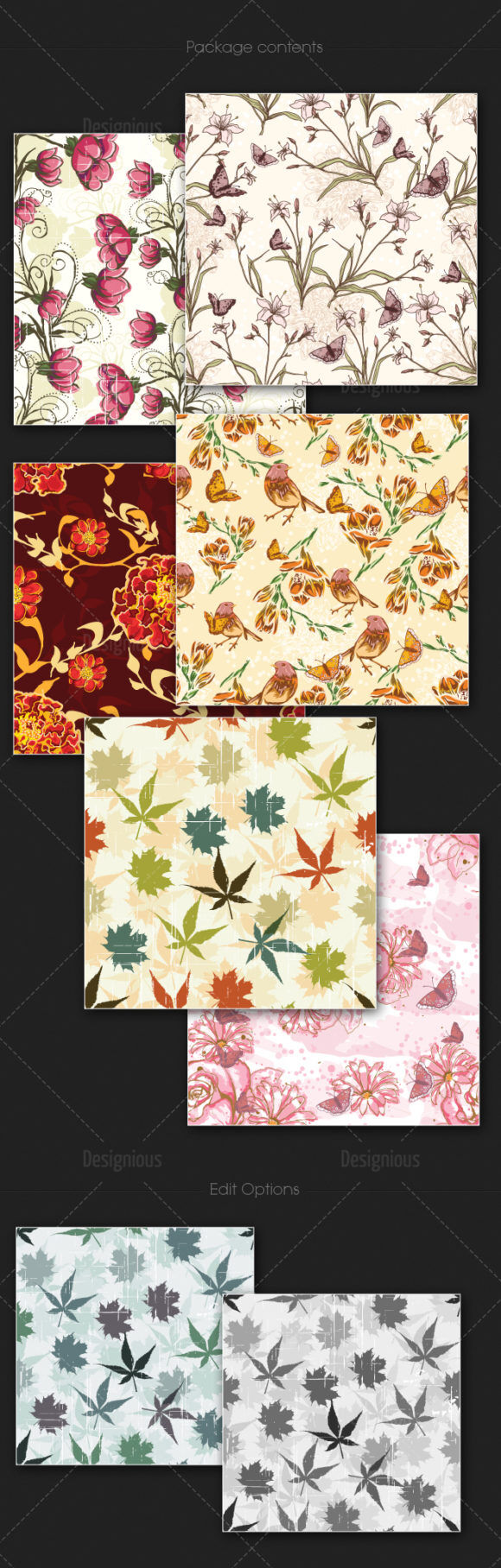 Seamless Patterns Vector Pack 115 Vector Patterns [tag]
