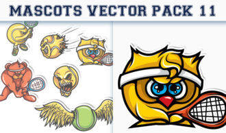 Mascots Vector Pack 11 Sport, Mascots & Cartoons [tag]