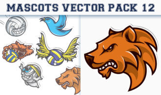 Mascots Vector Pack 12 Sport, Mascots & Cartoons [tag]