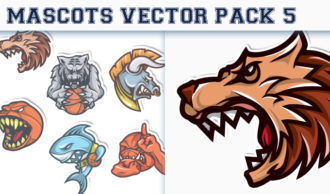 Mascots Vector Pack 5 Sport, Mascots & Cartoons [tag]