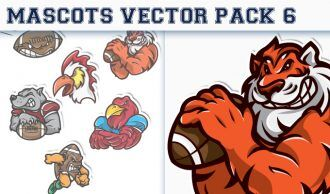 Mascots Vector Pack 6 Sport, Mascots & Cartoons [tag]