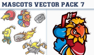 Mascots Vector Pack 7 Sport, Mascots & Cartoons [tag]