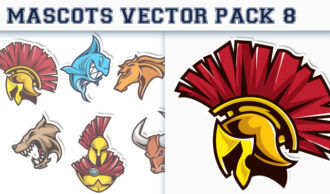 Mascots Vector Pack 8 Sport, Mascots & Cartoons [tag]