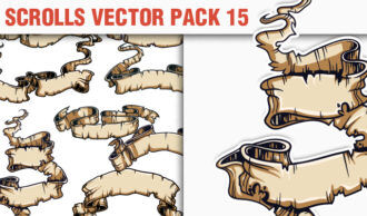 Scrolls Vector Pack 15 Scrolls [tag]