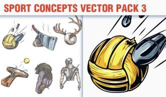 Sport Concepts Vector Pack 3 People [tag]