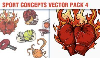 Sport Concepts Vector Pack 4 People [tag]