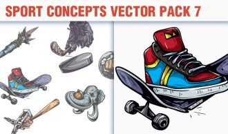 Sport Concepts Vector Pack 7 People [tag]