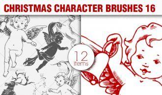 Christmas Brushes Pack 16 Holiday brushes [tag]