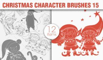 Christmas Brushes Pack 15 Holiday brushes [tag]