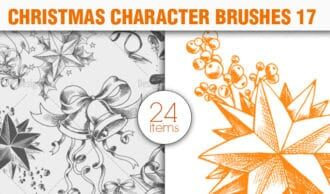 Christmas Brushes Pack 17 Holiday brushes [tag]
