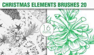 Christmas Brushes Pack 20 Holiday brushes [tag]