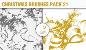 Christmas Brushes Pack 21 Holiday brushes [tag]