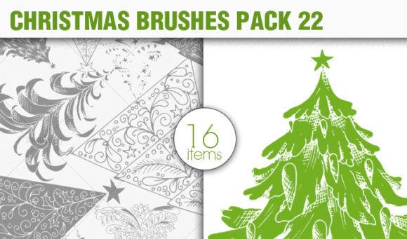 Christmas Brushes Pack 22 Holiday brushes [tag]