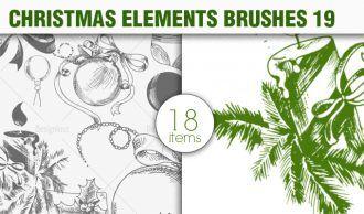 Christmas Brushes Pack 19 Holiday brushes [tag]