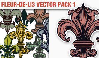 Fleur-de-Lis Vector Pack 1 Heraldry [tag]